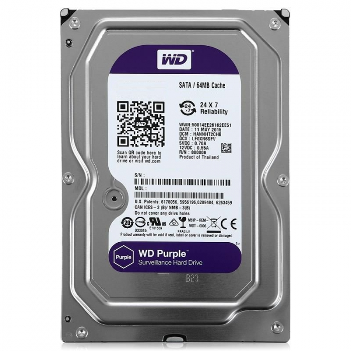 "HDD 3.5"" 4TB Western Digital WD40PURZ Purple"