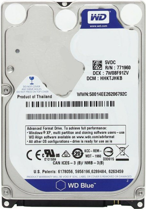 "HDD 2.5"" 1Tb Western Digital WD10JPVX Blue"